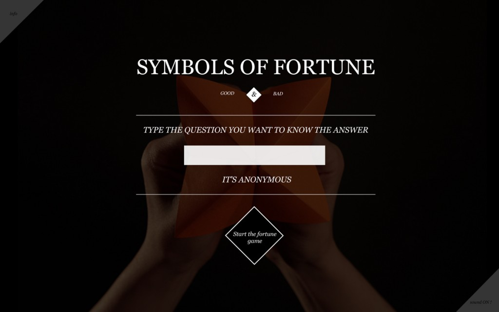 screenshot of website fortunesymbols game
